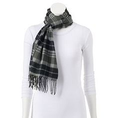 Softer Than Cashmere? Plaid Oblong Scarf