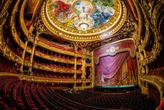 At the Palais Garnier, a world famous symbol of Paris. Built in the century and named after its architect Charles Garnier - it is home to the Paris Opera. Marc Chagall, Artist Chagall, Monuments, Paris France, Charles Garnier, Paris Bucket List, Paris Opera House, Ravensburger Puzzle, Hdr Photography