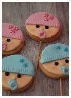 galletas en piruleta caritas de bebe, baby face cookies