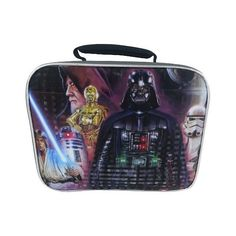 Star Wars  Rectangular Lunch Bag ($9.99) ❤ liked on Polyvore featuring home, kitchen & dining, food storage containers, grey, lunch sack, rectangular food storage containers, compartment lunch box, lunch bag and compartment lunch bag