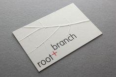 Root + Branch - Business Card Design Inspiration   Card Nerd