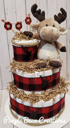 Moose Baby Shower, Boy Baby Shower Themes, Baby Shower Fun, Baby Shower Decorations, Baby Shower Gifts, Baby Gifts, Diaper Cake Boy, Baby Boy Cakes, Bebe Shower
