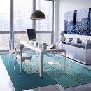 Living room rug idea; $480 Reoriented SP13C FLORug-Teal