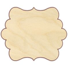 """Plaque Unfinished 1/4"""" Baltic birch plywood. Pieces are laser cut, which results in smooth, brown edges that do not require sanding. Please note that the back of laser cut pieces will show burn marks"""