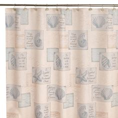 Product Image For Inspirational Shores 70 Inch X Shower Curtain Extra Long