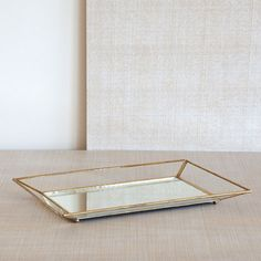 CRYSTAL TRAY WITH GOLDEN EDGES - Decoration Accessories - Decoration | Zara Home Turkey