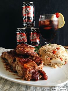 Living the Gourmet: Dr. Pepper Cherry Soda Ribs #ShareFunshine