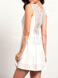 White+Sleeveless+With+Lace+Zipper+Dress+15.29