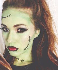 Glam Frankenstein Halloween Makeup