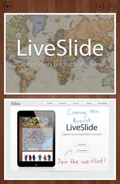 Capture every teachable moment with LiveSlide. Can't wait to use this FREE tool in my class this year. Make sure and join the waiting list!
