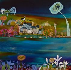 """Saatchi Online Artist: charlie o'sullivan; Acrylic, Painting """"Thinking of Home"""""""