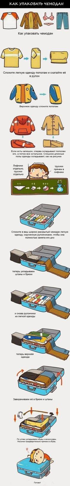 Собрать чемодан в дорогу. Проверено на практике - работает. Чемодан…