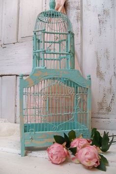 Wood and metal birdcage ornate wooden hand by AnitaSperoDesign, $170.00