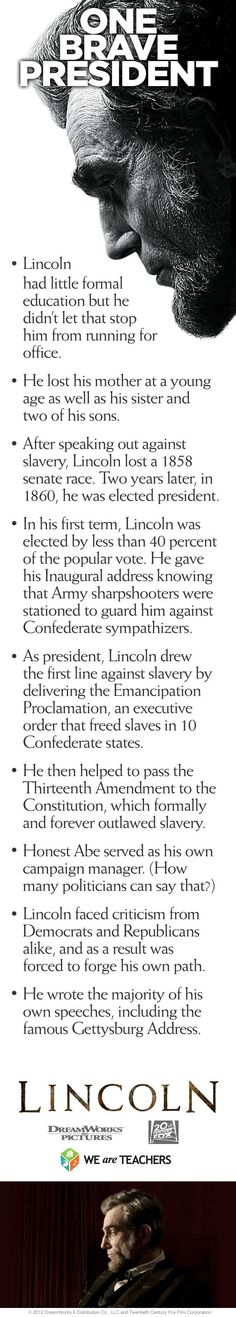 Abraham Lincoln was one brave president...here\'s why. #weareteachers