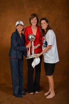 Assistant Coach Mickie DeMoss, Fever General Manager Kelly Krauskopf, and Assistant Coach Stephanie White