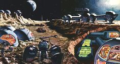 aus Micky Maus 11/1970Nach den Plänen eines großen amerikanischen Hotelkonzerns (Hilton) werden sich die Empfangsräume über der Oberfläche des Mondes befinden, der größere Teil des Hotels aber neun Meter darunter liegen (Klaus Bürgle 1970) (Danke an Marc Heinrichs)