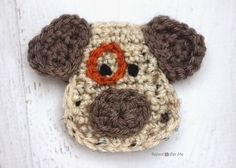 Repeat Crafter Me: D is for Dog: Crochet Dog Applique