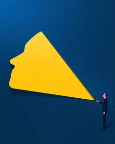 With a minimalist approach to editorial work that blends silhouettes and shadows, Estonian illustrator Eiko Ojala has become a staple of major newspapers and magazines as of late including the New York Times, The Washington Post, Wired, and New Scientist. His distinctive style involves the look and
