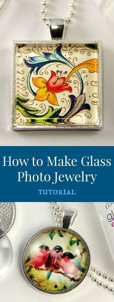 Jewelry Making Tutorials Love this tutorial to make your own glass photo jewelry. Resin Jewelry, Glass Jewelry, Jewelry Crafts, Jewelry Sets, Beaded Jewelry, Gold Jewelry, Fine Jewelry, Amber Jewelry, Jewelry Accessories