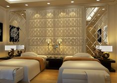Guest Bedroom withTextures 3D Panels  get it w/Ariam Interiors - ariam0411@gmail.com