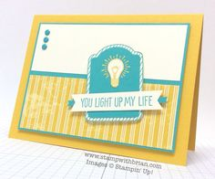 One Tag Fits All, You Brighten My Day I love this color combo Card Making Inspiration, Making Ideas, Friendship Cards, Card Sketches, Cool Cards, Creative Cards, Kids Cards, Scrapbook Cards, Scrapbooking