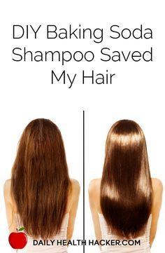 DIY Baking Soda Shampoo Saved My Hair - Worth a shot since baking soda is just g. DIY Baking Soda Shampoo Saved My Hair - Worth a shot since baking soda is Baking Soda For Hair, Baking Soda Shampoo, Diy Shampoo, Detox Shampoo, Baking Soda Uses, Diy Hair Growth Shampoo, Baking Soda Beauty Uses, Baking Soda Mask, Homemade Shampoo
