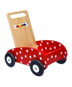 Take a look at this Red Wood Push Car by DUSHI on #zulily today!