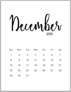 Cute December 2019 Calendar: Cute December 2019 Calendar Pink Designs Floral Wall Calendar, Cute December 2019 Desktop and iPhone Calendar Wallpaper Calendar 2019 Printable, Free Printable Calendar, Kids Calendar, Calendar Pages, Blank Calendar, Free Printables, Calendar Design, Calendar 2020, December Calendar 2019