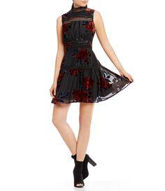 002d19db892 Gianni Bini Sienna Burnout Velvet Dress