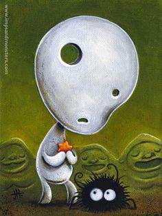 Hayao Miyazaki (selectedillustrations: Kodamas by Justin...)