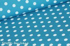 Stoffe gemustert - Stoff Sweat * Gina Punkte * türkis - ein Designerstück von Stoffe-by-Irene bei DaWanda