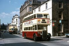 """1951 Guy Arab IV/East Lancs heads 1955 Leyland /East Lancs in Burnley - From my """"Manchester Area Buses""""book. Bus Coach, Burnley, Photo Search, Public Transport, Coaches, Buses, Old Photos, Trains, Transportation"""