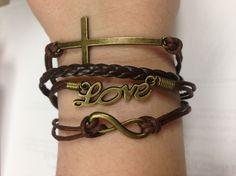 Cross My Heart bracelet $10     http://leatherandsequins.com/cross_my_heart_bracelet.html