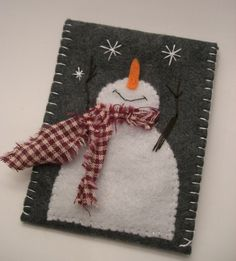 Gift Card Holder Felt Snowman