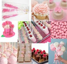 cake pops, cupcakes and cake buffet style | ... lollipops mini pink cupcakes cake pops pink and white pudding cups