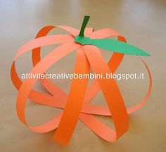 Attività Creative Per Bambini: Zucca di carta per Halloween