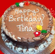 9 Best Happy Birthday Tina Images In 2017 Happy Birthday