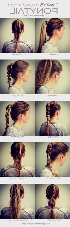 10 hairstyle pony tale easy to do
