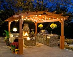 Google Image Result for http://www.gazebocreations.com/images/CustomerGallery/Zoom2/12x16-TreatedPine-Arched-Pergola-Night-A.jpg