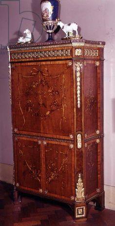 Louis XVI marquetry secretaire, attributed to David Roentgen, .   Victoria & Albert Museum, London, UK / The Bridgeman Art Library