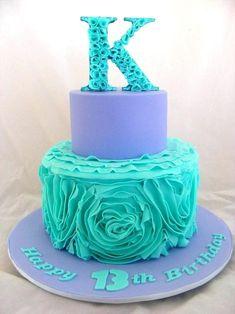 Birthday Cakes For Girls Beautiful Birthday Cake Ruffle Rose Cake By My Cake Pla. Birthday C Birthday Cakes For Men, 19th Birthday Cakes, Funny Birthday Cakes, Homemade Birthday Cakes, Beautiful Birthday Cakes, 12th Birthday, Birthday Ideas, Fun Cupcakes, Cupcake Cakes