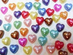 100x 10mm Heart Pearl Cabochon set by CuteCornwall on Etsy