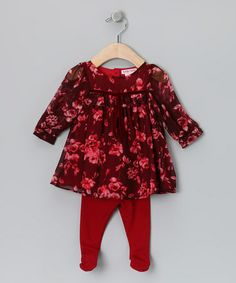 Take a look at this Scarlet Swing Tunic & Tights - Infant by Baby Nay on #zulily today!