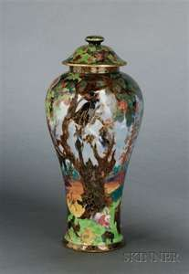 Wedgwood Fairyland Lustre Vase and Cover, England,
