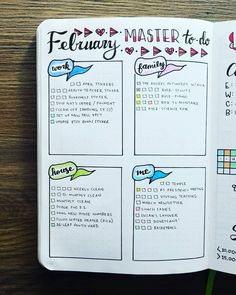February 2018 - Master To-do List This month is just truckin' along! I've had some really productive days, and days where I've just wanted to read and lounge all day long. As long as EVERY day isn't like that, I think I'm fine!
