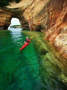 kayaking..