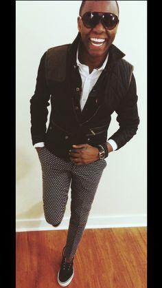 """thankful""  Denim Jacket - @Levi Shaffer  Quilted Vest - @Zara Men  Button Down Shirt - @J.Crew  Print Chinos - @Zara Men  Laceless Shoes - @Sperry Top-Sider  Time Piece - @Timex  Bracelets - @Lori Abercrombie"