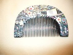 Vintage Japanese Lacquered Mother of Pearl Comb | eBay
