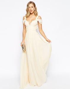 Image 4 - Forever Unique - Maxi robe à encolure en cœur et épaules dénudées