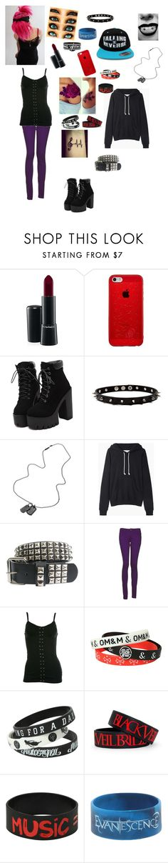 """Girl with pink hair"" by band-fan-forever ❤ liked on Polyvore featuring MAC Cosmetics, Diesel, La Garçonne Moderne, Monkee Genes and WYL"